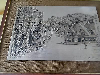 A Pewter Etching of Dunster