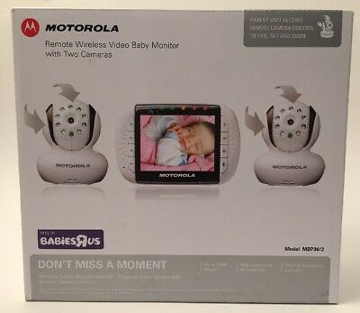 "Motorola Digital Video Baby Monitor -2- Cameras with 3.5"" Color LCD Screen"
