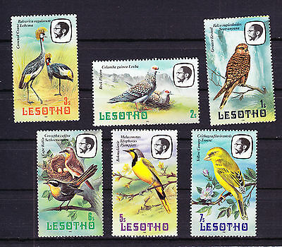 Lesotho Six Hinged Unused Bird Birds stamps Africa African