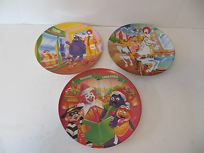 McDonalds 1995 Carnival Fun Season Greetings Christmas Melamine Plate Excellent