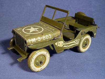 CR Charles Rossignol ancien tole Blech Willys Jeep vintage 40's tin toy A175
