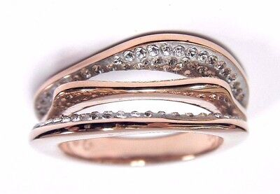 043524a9a Hilly Ring, White, Rose Gold Plate Size 8 Eur 58 2017 Swarovski Jewelry  5366561