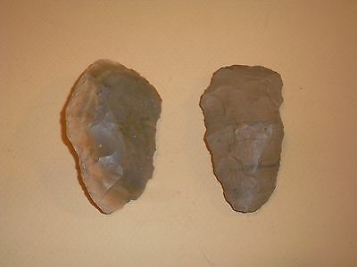 authentic stone tools from the midwest, scrapers, chert