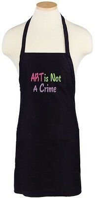ART is Not A Crime - Embroidered Adult Apron - Artist