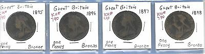 Great Britain Penny Coin Set, 1895-1967, 64 coins, Nice Set