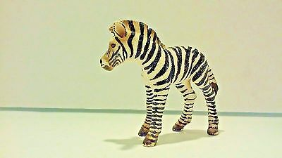 Schleich Wildlife Safari Zebra Foal Brown and White Stripes VGUC