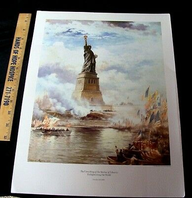 """Vintage """"Unveiling of the Statue of Liberty"""" 1886 Print No Reserve"""