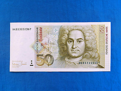 1996 Germany 50 Deutsche Mark Banknote *P-45*       *XF*