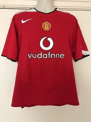 Manchester United Football Shirt Home 2004 2006 Mens MUFC Nike Jersey Large