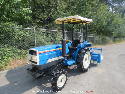 """Agricultural Farm Utility Tractor 55"""" Rear Tiller 4WD Diesel PTO 3 Point Hitch"""