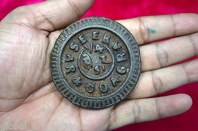 Antique Indian Cast Iron Rare Seer Measuring Scale Weight Collectible. G15-46