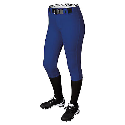 DeMarini Girl's Belted Fastpitch Softball Pant - Royal - Small