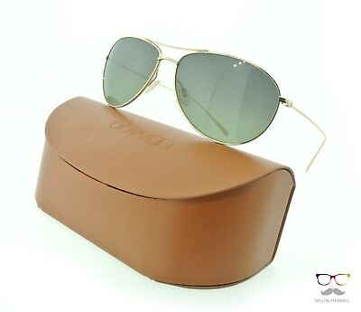 Oliver Peoples Sunglasses 1147ST Tavener 5035T4 Gold / Green Gradient Polarized