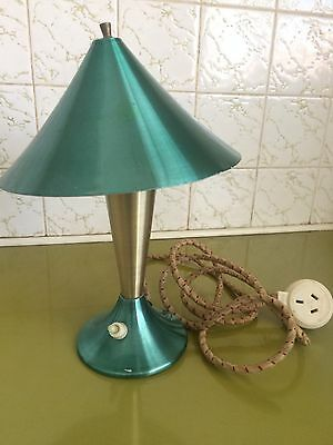 Vintage Retro Anodised Light TV Lamp , 50s , 60s , Flying Saucer , Mid Century