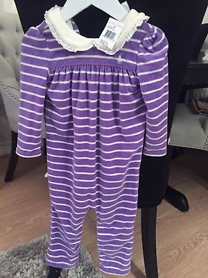 Girls NEW Velour Ralph Lauren Romper 12 Months