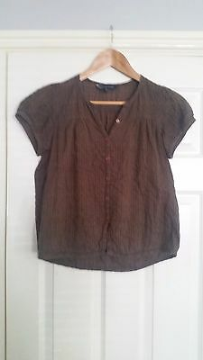 Ex French Connection FCUK Ladies Pink Peplum Casual Jersey Top Size 1416 Large