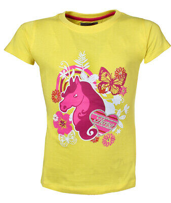RED Horse Horse Print Childrens Riding T-Shirt
