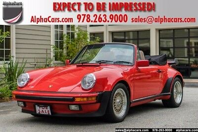 1986 Porsche 911 Carrera Convertible 2-Door RARE M491 Turbo Look All Original Full Service History