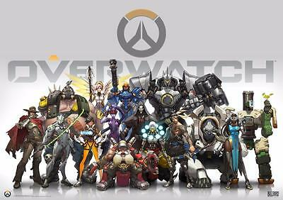 A3 Size - Overwatch video game Art wall chart posters