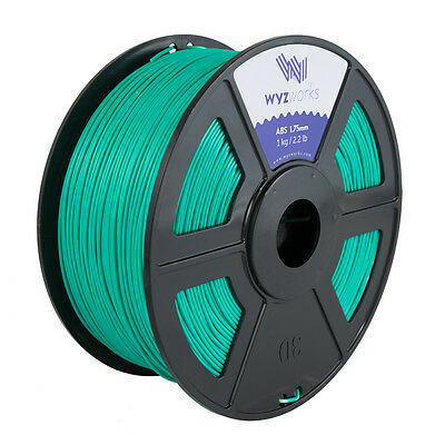 WYZwork 3D Printer Premium ABS Filament 1.75mm 1kg/2.2lb - Turquoise