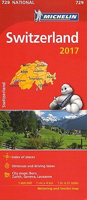 Switzerland National Map 2017 - Michelin 729 - New