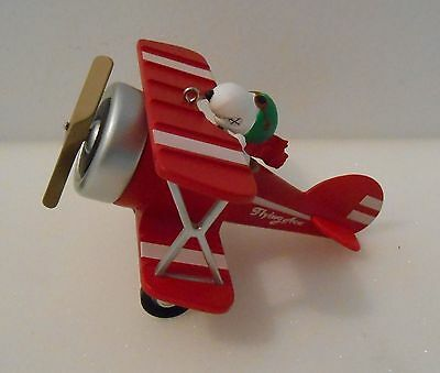 Snoopy Flying Ace Hallmark Ornament 2015 Tested Works Great Fresh Batteries More