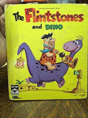 Hanna-Barbera's The Flintstones And Dino 1961 Whitman Tip Top Tales Book