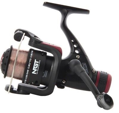 NGT Fishing Reel 8lb Line All Round Coarse Carp Terminal Tackle Spinning Float