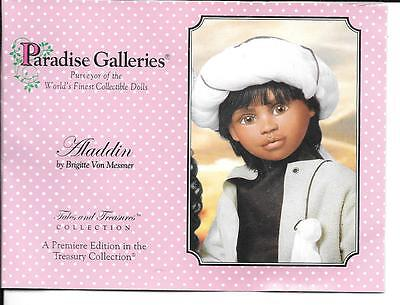 "21"" Paradise Galleries  Aladdin Porcelain Doll in  Original Box"