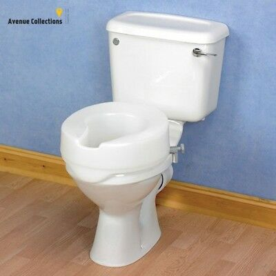 Patterson Medical Ashby Easyfit Raised Toilet Seat - 10 cm/4-inch (Eligible for