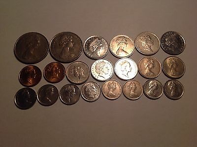 Lot of 21 Bermuda Coins - 5 different denominations