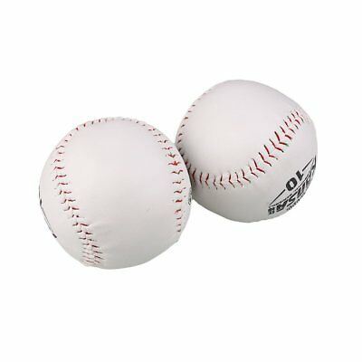 2Pcs Trainning BaseBall Softball Base Ball Soft Leather White Outdoor Activity