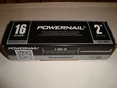 """POWERNAIL 2""""- 16 Gage Hardwood Flooring L-Cleat Nails QTY: 1,000 MADE IN U.S.A."""