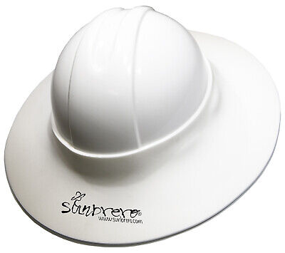 Construction Hard Hat Sun Visor WHITE...  BUY ONE, GET ONE FREE!