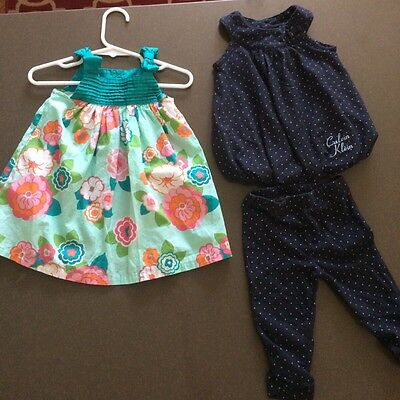 Two Dresses Size 6-12 Months. Calvin Klein And Gymboree
