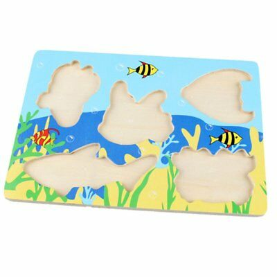 3D Magnetic Fishing Board Toy Wooden Mini Puzzle Educational For Children