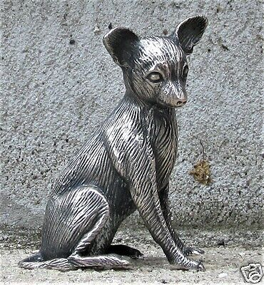 "S. KIRK & SON SOLID CAST STERLING MINIATURE ""CHIHUAHUA"" 2.66 Troy oz."