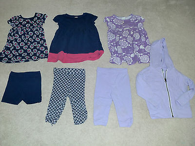 Lot Summer/Fall, 7 PC, 2T, Girls, Mix-and-Match, Play Outfits, Purple, Old Navy