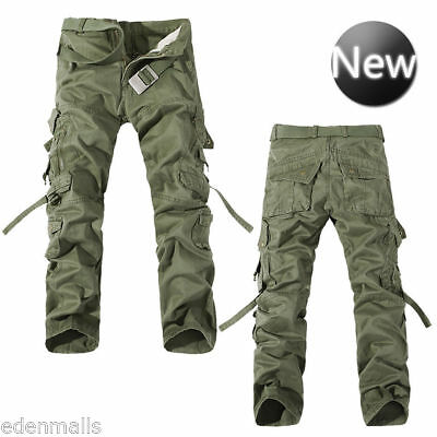 Casual Camouflage Cargo Pants Army Fatigue Tactical Combat Pants For Men