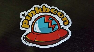 PINKBEEN sticker decal laptop car wall unused unstuck quality 7.5 X 6.5 cm