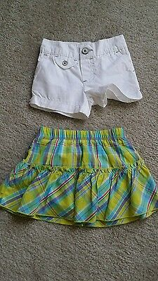 Little girls Carters size 6 months skirt and shorts lot