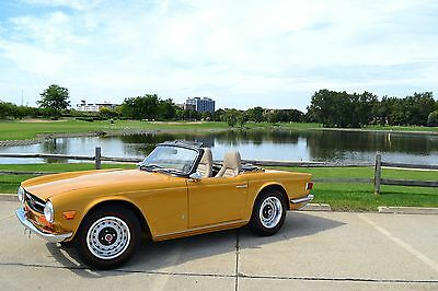 1972 Triumph TR-6 upgraded triumph TR6 Roadster Salon entry level restoration no rust lo miles just reduced