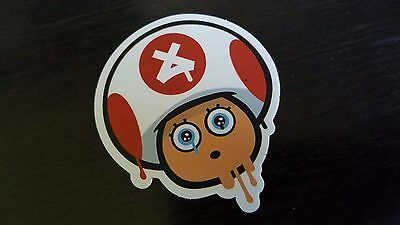 MARIO BROTHERS sticker decal laptop car wall unused unstuck quality 7 X 6.5 cm