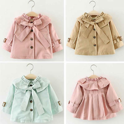 Baby Girl Toddler Windbreaker Outwear Coat Winter Tops Jacket Parka Overcoat Top