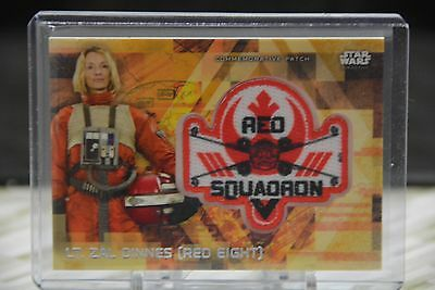 2017 Star Wars Rogue One series 2 patch card MP-ZD Lt. Zal Dinnes 18/50