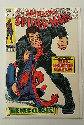 The Amazing Spider-Man #73 (Jun 1969, Marvel), FN+ (6.25), Man Mountain Marko!