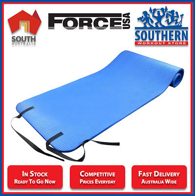 Force USA Yoga Mat 15mm Thick Non Slip Home Gym Training Fitness Pilates Yoga