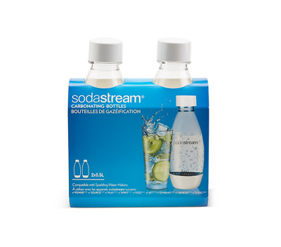 SodaStream 500ml Fuse Carbonating Bottles Twin Pack White