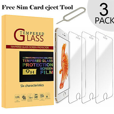 """For New Apple iPhone 6 6s (4.7"""") - Genuine Tempered Glass Screen Protector"""