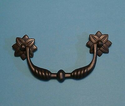 "Vintage Drawer Pull 7265 Bronze Tone French Provincial 4 1/2"" Bore Knocker Style"